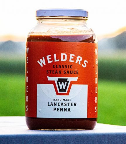 classic steak sauce glass gallon jar